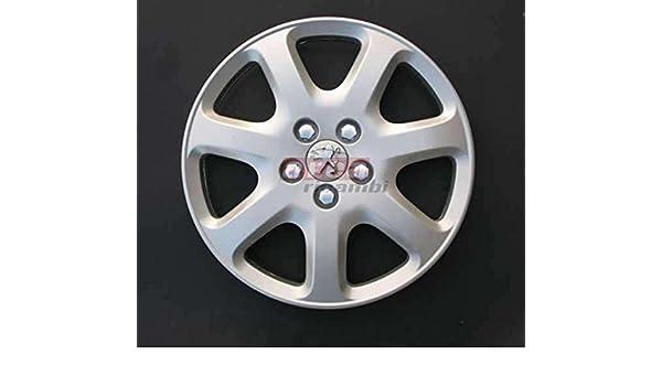 Copas Rueda 4 Piezas Peugeot 407 - 307 diámetro 16 Logo cromado Tapacubos: Amazon.es: Coche y moto