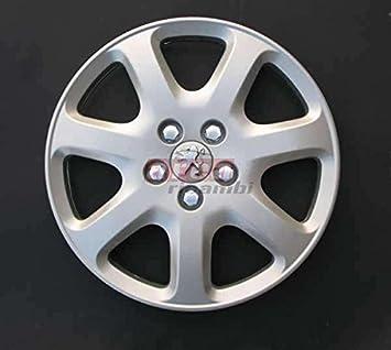 Copas Rueda 4 Piezas Peugeot 407 - 307 diámetro 16 Logo cromado Tapacubos: Amazon.