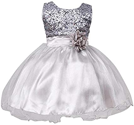 ba73b2534a68 Amazon.com: Gotd Infant Toddler Baby Girl Sequins Sleeveless Tutu Princess  Dress Clothes Winter Outfits Christmas Holiday (6-12 Months, Silver):  Musical ...