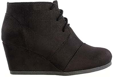 Marco Republic Galaxy Womens Wedge Boots - (Black) - 6.5