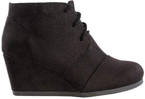 Suede Womens Wedge Boots - 6
