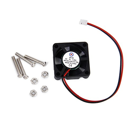 DC 5V 0.2A Cooling Fan w/ Screws for Pi Model B+ / Pi 2 (Raspberry Pi Cooling Fan compare prices)