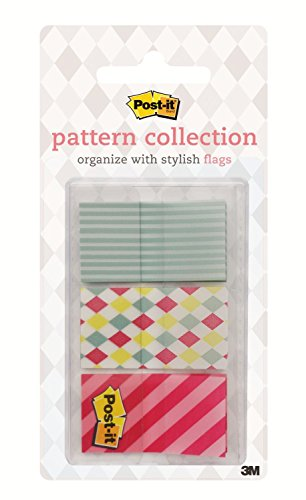 Flag Collection - Post-it Pattern Flags, Carnival Pattern Collection.94 x 1.7 Inches, 60/On-The-Go Dispenser, 1 Dispenser/Pack (682-CANDY)