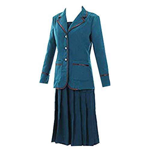Adult Women Blue Suit Coat Dress Carnival Costume Halloween (L) -