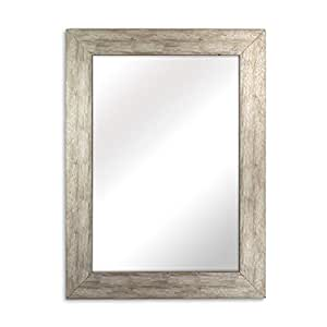white framed bathroom mirror raphael rozen modern classic 21530