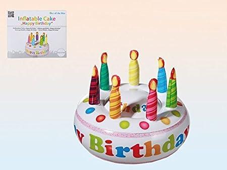 Tarta con velas hinchable diámetro 27 cm para fiesta de cumpleaños ...