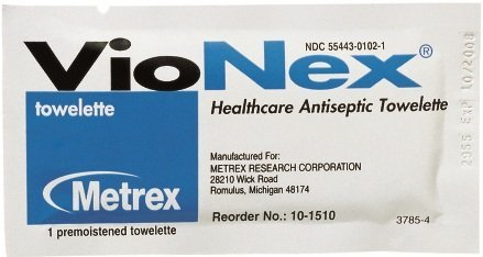 VioNex® Sanitizing Skin Wipe Individual Packet Chloroxylenol - CS/500
