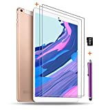 Android Tablet 10 inch with SIM Card Slot Unlocked +(2) Screen Protector +16GB SD Card +(1) Stylus Pen - IPS Screen 3G Phablet with WiFi GPS Bluetooth Tablets - Gold