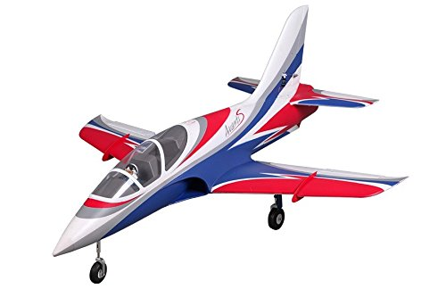 Foam Edf Rc Jet (FMS Avanti 70mm Ducted Fan EDF Blue Racing RC Airplane Jet 6S PNP (No Radio, battery, charger))