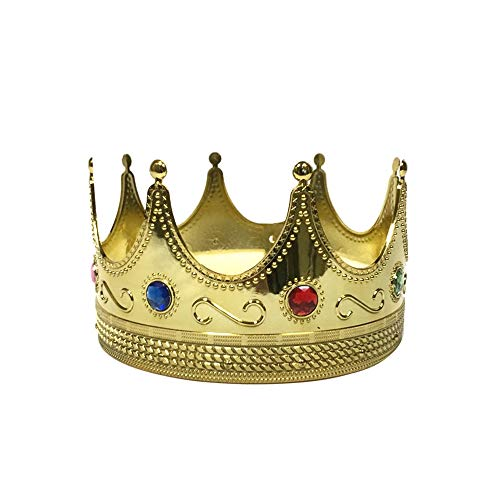 Fun Central AY970 Regal Gold King Crown, King Crown Toy Costume, King Crowns for Kids ()