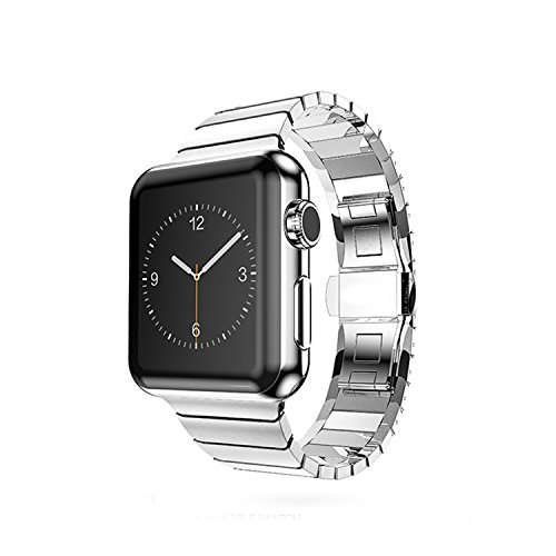 Apple Watch Band Link Bracelet 316L Stainless Steel (Silver 38mm) 316l Stainless Steel Band