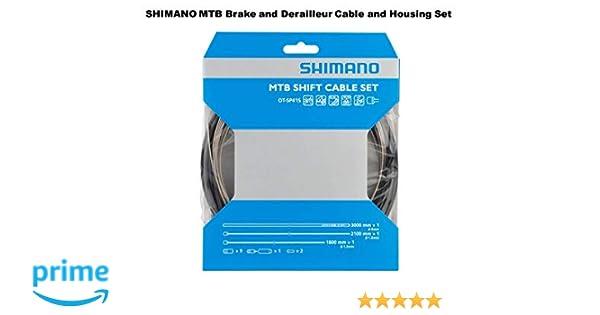 Shimano MTB OPTISLICK Mountain Bike Derailleur Shifter Cable /& Housing Set Black