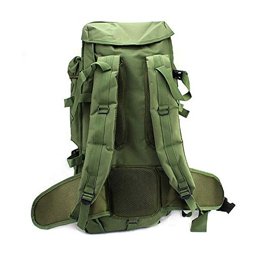 Military Tactical Backpack Rifle Gun Storage Holder Military Survival Trekking Hiking Fishing Rod Bag with Belt Olive