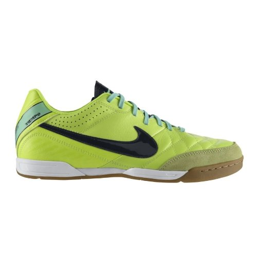 fc83995d0a190 Mens Nike Tiempo Natural IV Leather Indoor Soccer Cleat Volt/Green ...