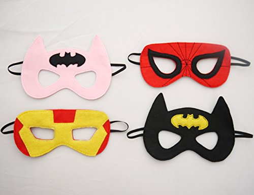 20 Batman, Spiderman, Superman, Captain America, Bat Girl, Iron Man Masks 20 Children's Kids Superhero Masks -