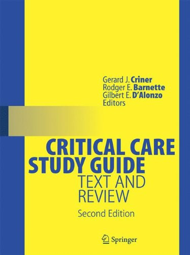 Critical Care Study Guide: Text and Review by Springer