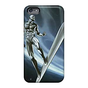 AlissaDubois Apple Iphone 6 Plus Protective Hard Cell-phone Cases Custom Attractive Silver Surfer I4 Skin [oba4340DYyS]