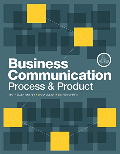 Business Communication: Process and Product: Brief
