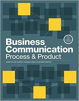 Business Communication Process And Product Pdf
