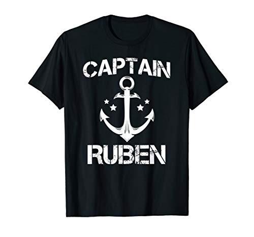 CAPTAIN RUBEN Funny Birthday Personalized Name Boat Gift T-Shirt (Rubens Unisex)