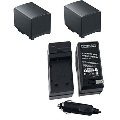 TWO 2 BP-820 2000mAh Batteries + Charger for Canon HF G30...