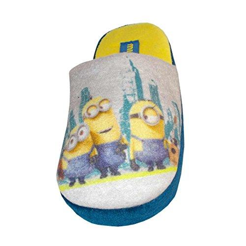 Minions Despicable Me 2 Cámara EN Felpa Zapatillas de Niño UN93601 (31/32, Gris)