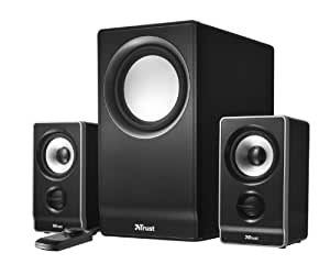 Trust Wave 2.1 Speaker Set - Altavoces 2.1 para ordenador (subwoofer, 45W RMS, 3 años de garantía)