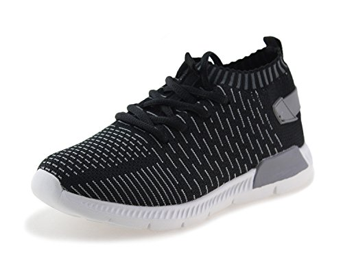 Image of Jabasic Kids Running Shoes Boys Girls Lightweight Breathable Easy Walk Knit Sneakers