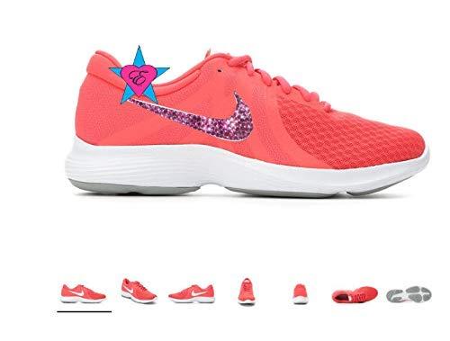5822bdf2cea56 Custom Pink Crystal Pink Women Revolution 4 Running Shoes