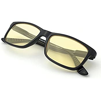 374af55b91b ... Computer Reading Gaming Glasses - 0.0 Magnification - Anti Blue Light  100% UV Protection - High Definition Lens