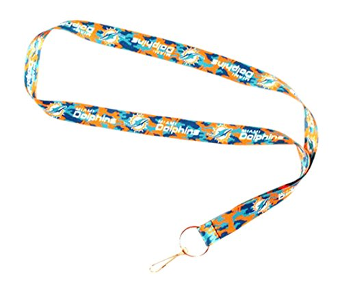 NFL Miami Dolphins Team Color Camouflage Lanyard