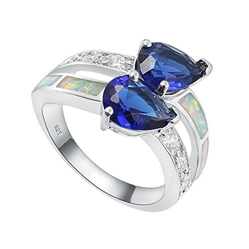 Sinlifu Women Fashion Silver Plated Blue Zircon September...