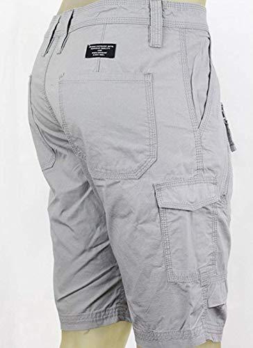 Armani Exchange AIX Utility Zip Short in Light Grey, Size 28