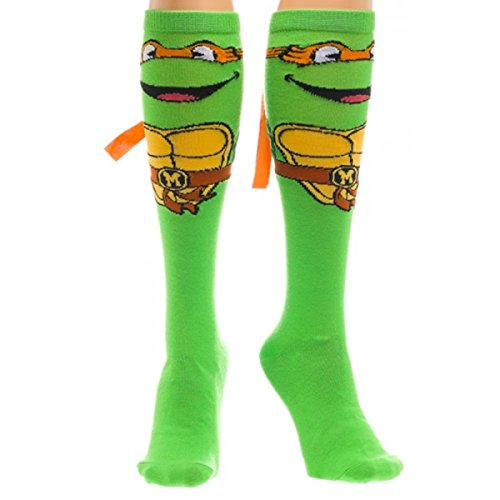 teenage-mutant-ninja-turtles-michelangelo-with-mask-knee-high-socks