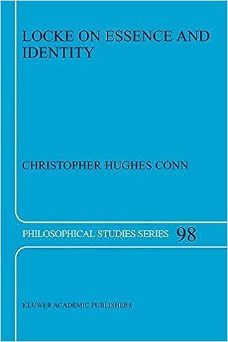 Book Locke on Essence and Identity (Philosophical Studies Series) (Volume 98)