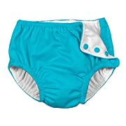 i play. Baby Ultimate Reusable Snap Swim Diaper, Aqua, 12 Months