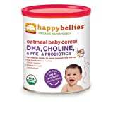 Happy Baby Happy Bellies Oatmeal Cereal, 7 Ounce - 6 per case.
