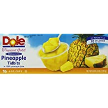 Dole 16/4-Ounce Pineapple Tidbits in 100-Percent Pineapple Juice, 16 Count