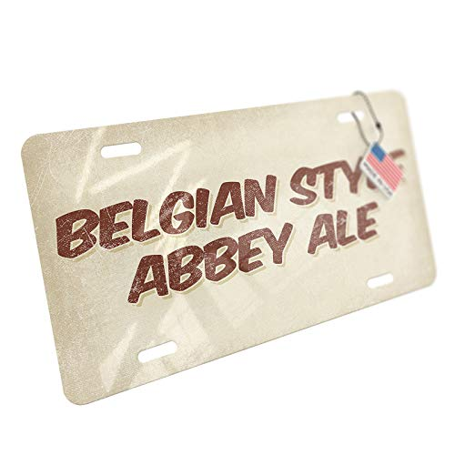 NEONBLOND Belgian Style Abbey Ale Beer, Vintage Style Aluminum License Plate