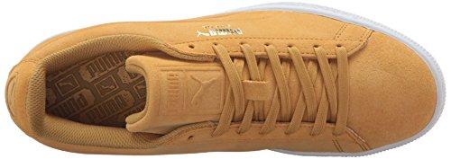 Puma Uomo In Pelle Scamosciata Classica Con Impresso Q3 Moda Sneaker Oro Brillante