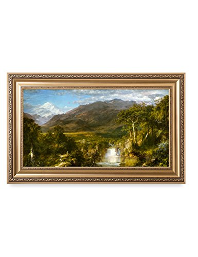 - DECORARTS -The Heart of The Andes, 1859, Frederic Edwin Church Art Reproductions. Giclee Printed w/Embossed Gold Frame for Wall Decor. Framed Size: 36x22