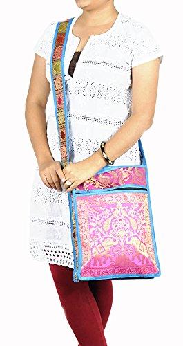 soie décoratif Art Design Dames sac bandoulière