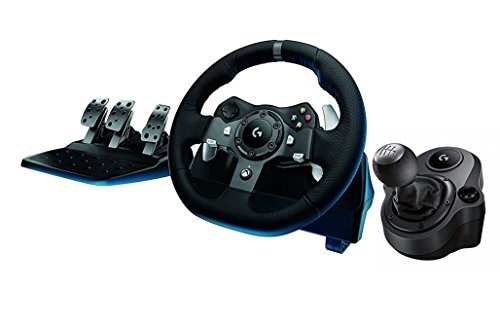 Price comparison product image Logitech G920 Driving Force Racing Wheel + Logitech G Driving Force Shifter Bundle for Xbox One (Certified Refurbished)