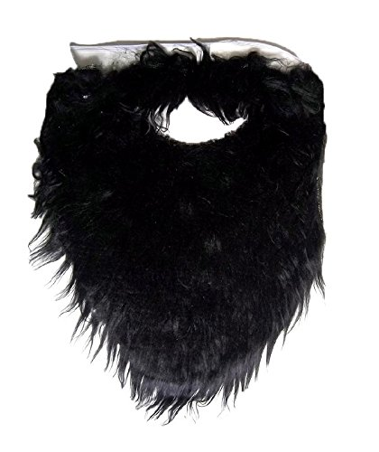 Jacobson Hat Company Fake Beard and Mustache Halloween Costume Accessory-Black-8
