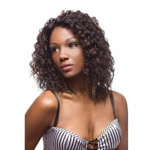 """12"""" Curly #1B/30 Glueless Full Lace Wigs 100% Indian Remy Human Hair"""
