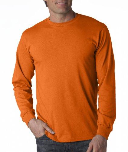 Fruit of the Loom mens 5 oz. HD Long-Sleeve T-Shirt, Burnt Orange, - Burnt Sleeve Shirt T Orange Long