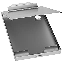 Blue Summit Supplies Aluminum Storage Clipboard, 1 Compartment, Large Heavy Duty Clip for Letter Paper, Great for Office, Jobsite or Classroom