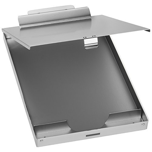Blue Summit Supplies Aluminum Storage Clipboard, 1 Compartment, Large Heavy Duty Clip for Letter Paper, Great for Office, Jobsite Or Classroom by Blue Summit Supplies