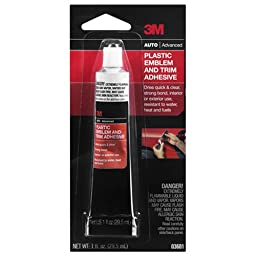 3M 03601 Plastic Emblem and Trim Adhesive