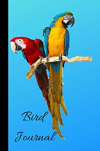 Bird Journal: A Cute Parrot Themed Bird Watching Logbook, Notebook, Journal, Diary And Guide Perfect For Birders And Birdwatchers, Great For Adults And Kids